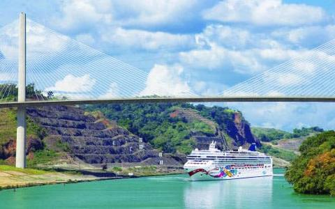 Panama Canal with Judy<br>on Norwegian Cruise Line
